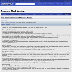 Most recent interview about Pokemon designs. - Pokemon Black Version Message Board for DS
