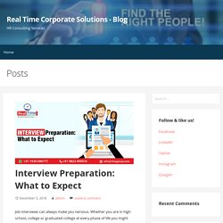 Interview Preparation: What to Expect