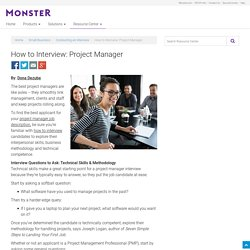 How to Interview: Project Manager