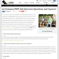 PHP Job Interview Questions And Answers
