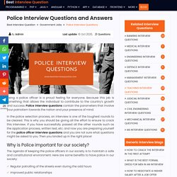 Top 20+ Police Interview Questions and Answers 2020