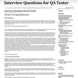QA Interview Questions and Answers – Interview Questions for QA Tester