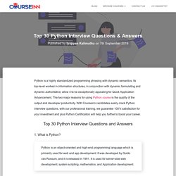 Top Python Interview Questions & Answers 2019