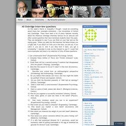 40 Oxbridge interview questions
