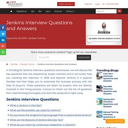 Jenkins Interview Questions and Answers (Pipeline Tricky, Real Time)