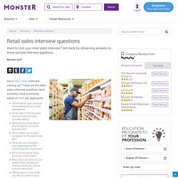 Interview Questions for a Retail Sales Job