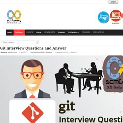 Questions and Answer : Git Interview