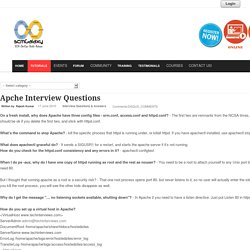 Apche Interview Questions