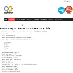 Interview Questions on Git, Github and Gitlab