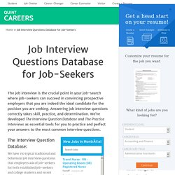 Job Interview Questions Database for Job-Seekers