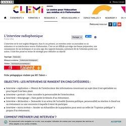 L'interview radiophonique- CLEMI