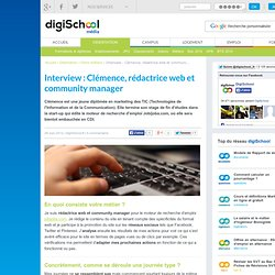 Interview : Clémence, rédactrice web et community manager pour Jobijoba