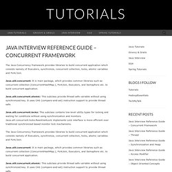 Java Interview Reference Guide – Concurrent Framework