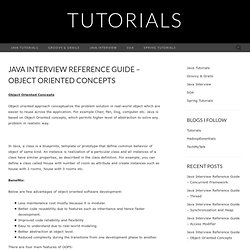 Java Interview Reference Guide – Object Oriented Concepts