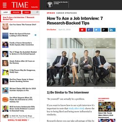 How To Ace a Job Interview: 7 Research-Backed Tips