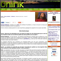 Interview de Richard Stallman