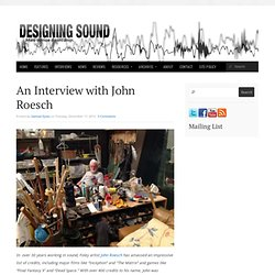 An Interview with John Roesch