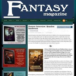 Feature Interview: Brandon Sanderson by Leigh Butler