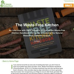 The Waste-Free Kitchen: An Interview with Author and Scientist Dana Gunders - Tackling Foot Waste - Green American Magazine Winter 2017