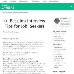 10 Best Job Interview Tips for Job-Seekers