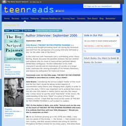 Author Interview: September 2006
