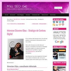 Interview Séverine Ghys - Stratégie de Contenu Digital