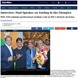 Interview: Paul Speaker on Surfing in the Olympics