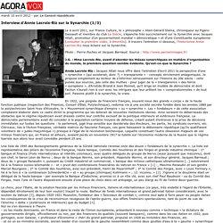 Interview d'Annie Lacroix-Riz sur la Synarchie (1/3)