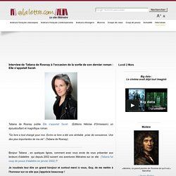 Interview - Tatiana de Rosnay