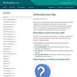 50 Best Interview Tips - Telegraph Jobs Advice