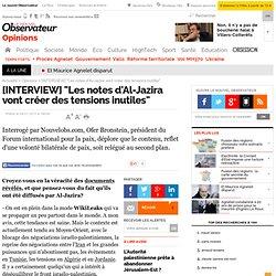 """[INTERVIEW] """"Les notes d'Al-Jazira vont créer des tensions inutiles"""" - Opinion"""