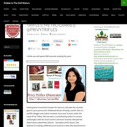 Author Interview: Privy Trifles: Metro Diaries: @privytrifles