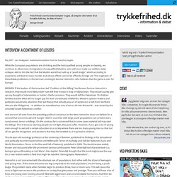 Interview: A Continent of Losers - trykkefrihed.dk