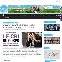 """Interview d'Anne-Véronique Herter auteure du livre """"Le cri du corps"""""""