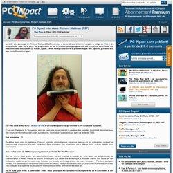 PC INpact interviewe Richard Stallman (FSF) (Techniquement un progrès, socialement une régression)