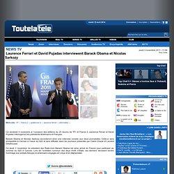 Laurence Ferrari et David Pujadas interviewent Barack Obama et Nicolas Sarkozy