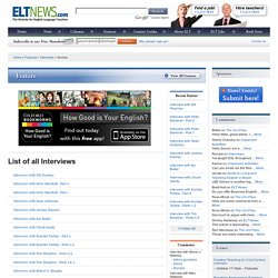 ELT news Interviews