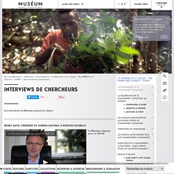 Interviews de chercheurs