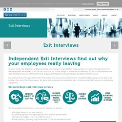 Best Outsource Exit Interview / Resource Bank