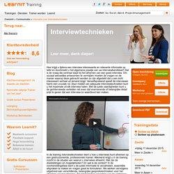 Cursus Interviewtechnieken - Learnit Training
