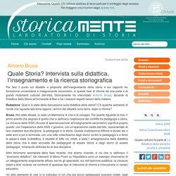 Intervista ad Antonio Brusa sulla didattica della storia
