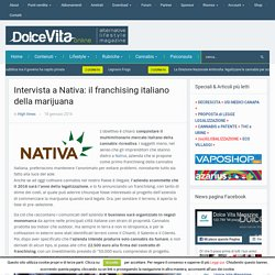Intervista a Nativa: il franchising italiano della marijuana - DolceVita