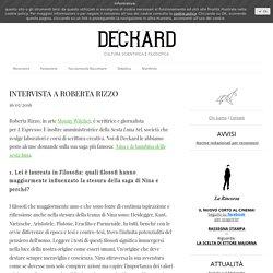 INTERVISTA A ROBERTA RIZZO - Deckard