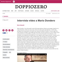 Intervista video a Mario Dondero