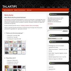 TALARTIPS – tips, fakta, nyheter och intervjuer om presentationsteknik, retorik, PowerPoint & infodesign