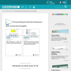 Fiches pratiques Interwrite Workspace (par Turning Technologies)