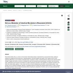 Diet as a Modulator of Intestinal Microbiota in Rheumatoid Arthritis