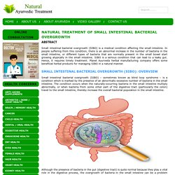 Natural Treatment of Small Intestinal Bacterial Overgrowth
