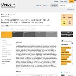 Intestinal Serotonin Transporter Inhibition by Toll-Like Receptor 2 Activation. A Feedback Modulation