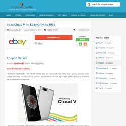 Intex Cloud V on Ebay Only Rs 3999
